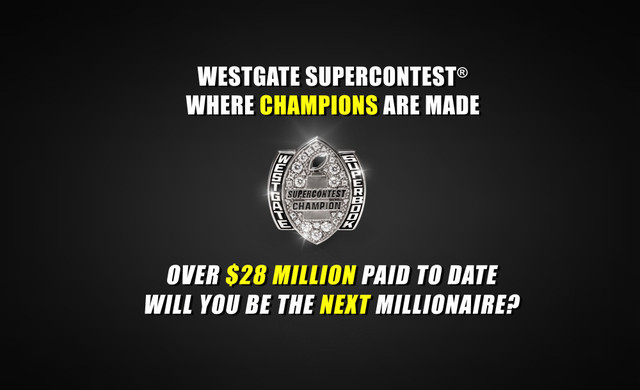 Looking for the Ultimate Football Handicapping Challenge™? Then you should play The Westgate Las Vegas SuperContest®, which is The Ultimate Football Handicapping Challenge™ for handicapping football in Las Vegas NV by people who like football handicapping.