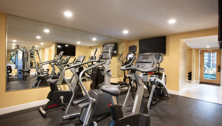 Fitness room at one of our leisure hotels near Seaworld Orlando FL   Westgate Leisure Resort   Westgate Resorts
