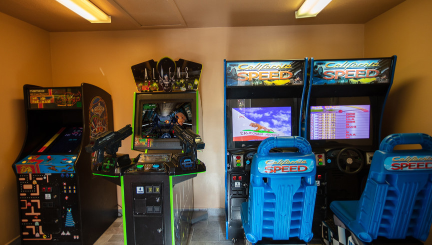Game room at one of our leisure hotels near Seaworld Orlando FL   Westgate Leisure Resort   Westgate Resorts