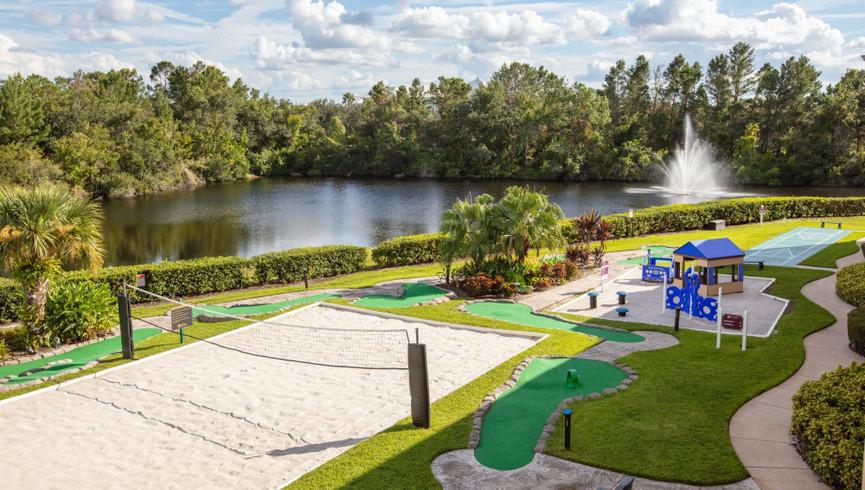 Sand volleyball court at one of our leisure resorts near Seaworld Orlando FL   Westgate Leisure Resort   Westgate Resorts