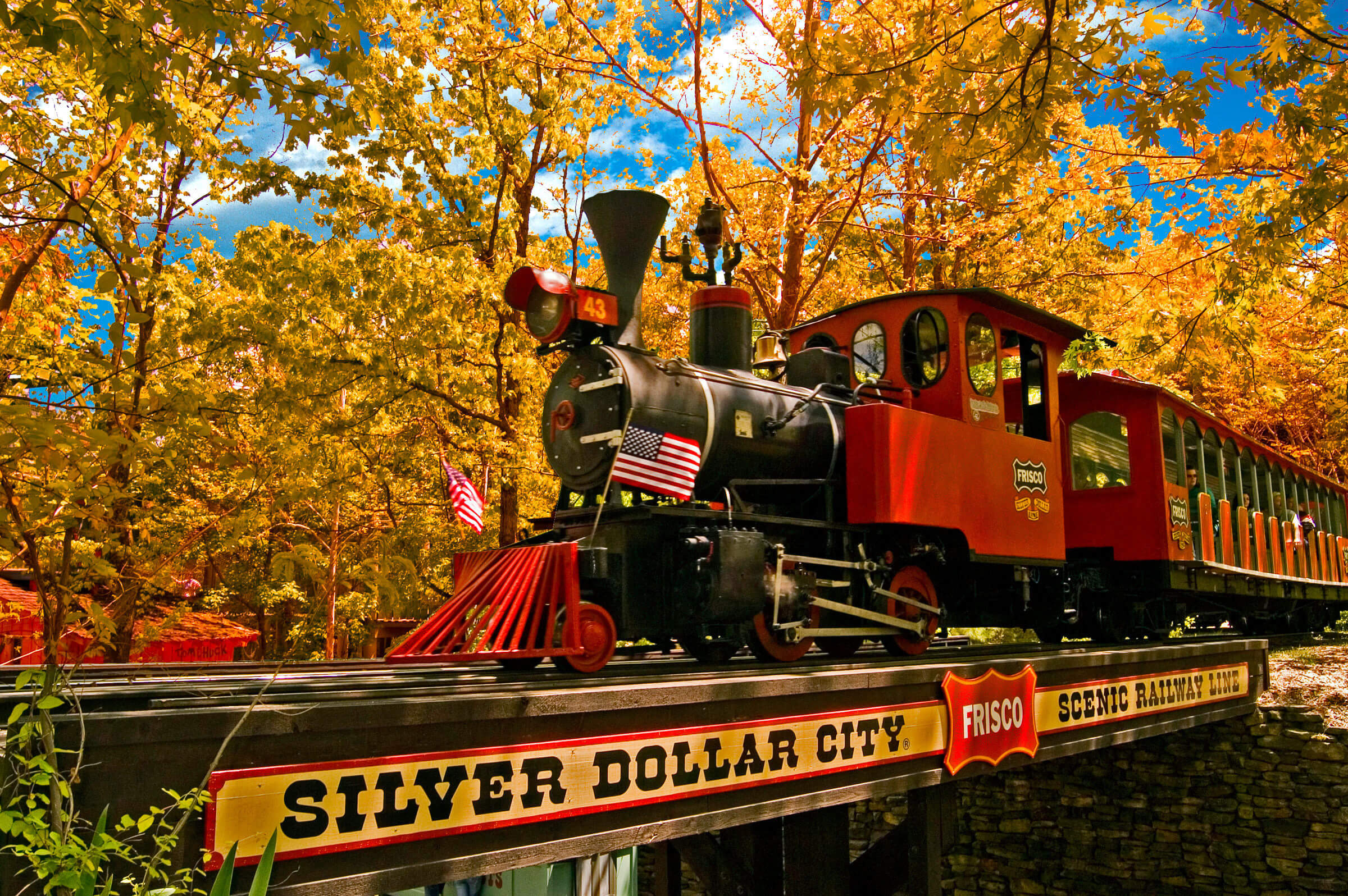 Red Train at Branson's Silver Dollar City with Package Offer