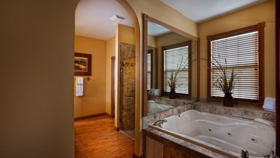 Hot-tub in Saddle Club Two-Bedroom Cabin |  Westgate River Ranch Resort & Rodeo | Westgate Resorts