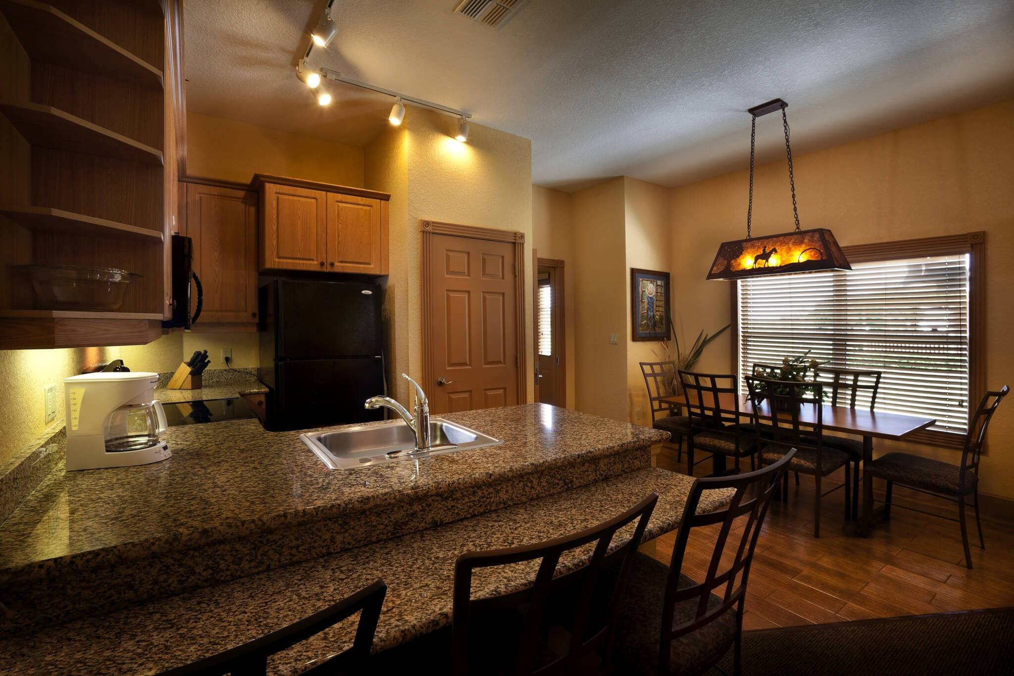 Kitchen in Saddle Club One-Bedroom Grand Cabin |  Westgate River Ranch Resort & Rodeo | Westgate Resorts