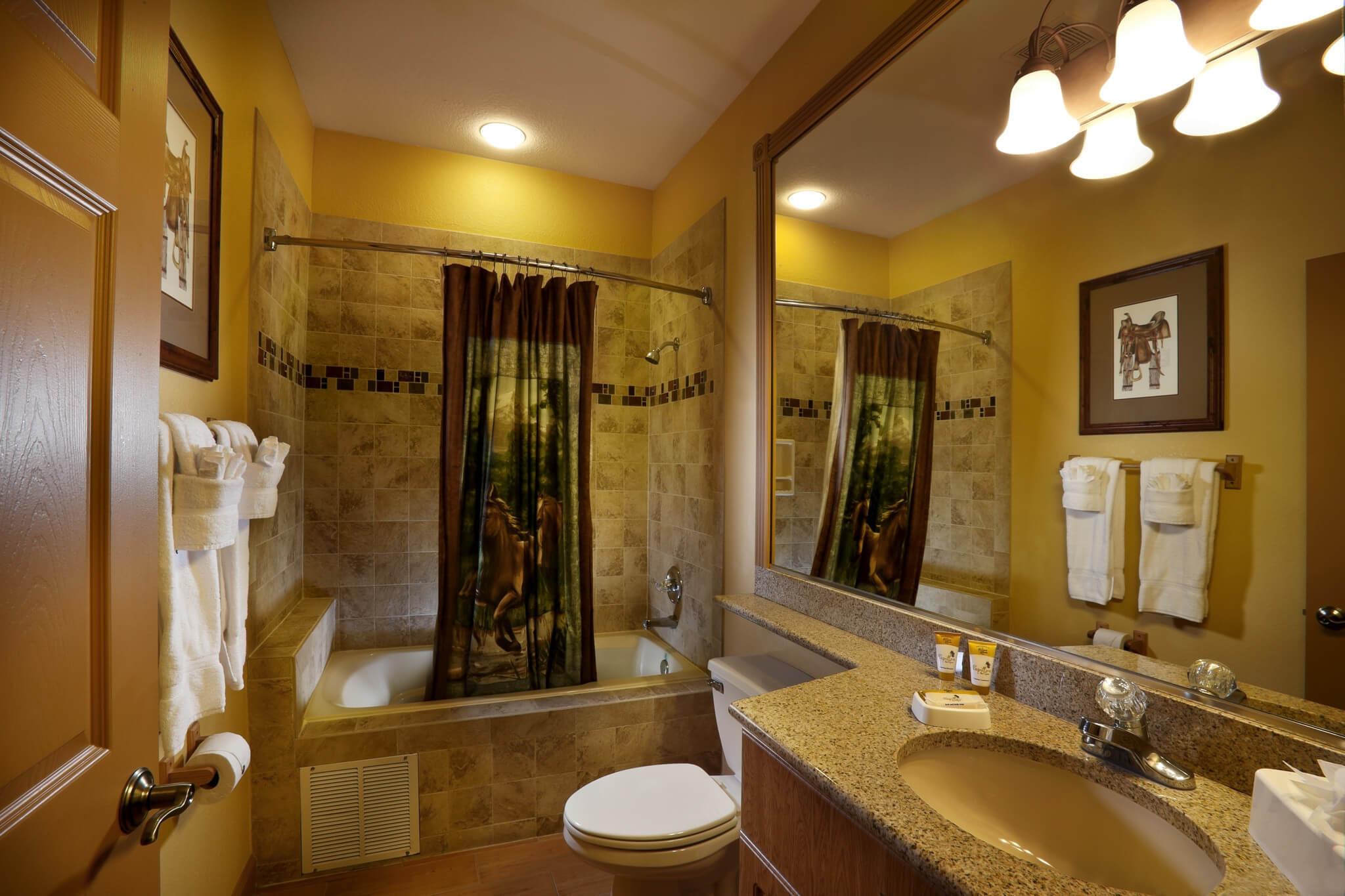 Bathroom in Saddle Club Studio Cabin    Westgate River Ranch Resort & Rodeo   Westgate Resorts