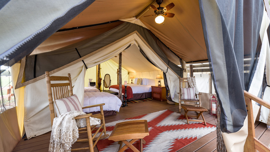 Inside the Glamping Tent |  Westgate River Ranch Resort & Rodeo | Westgate Resorts