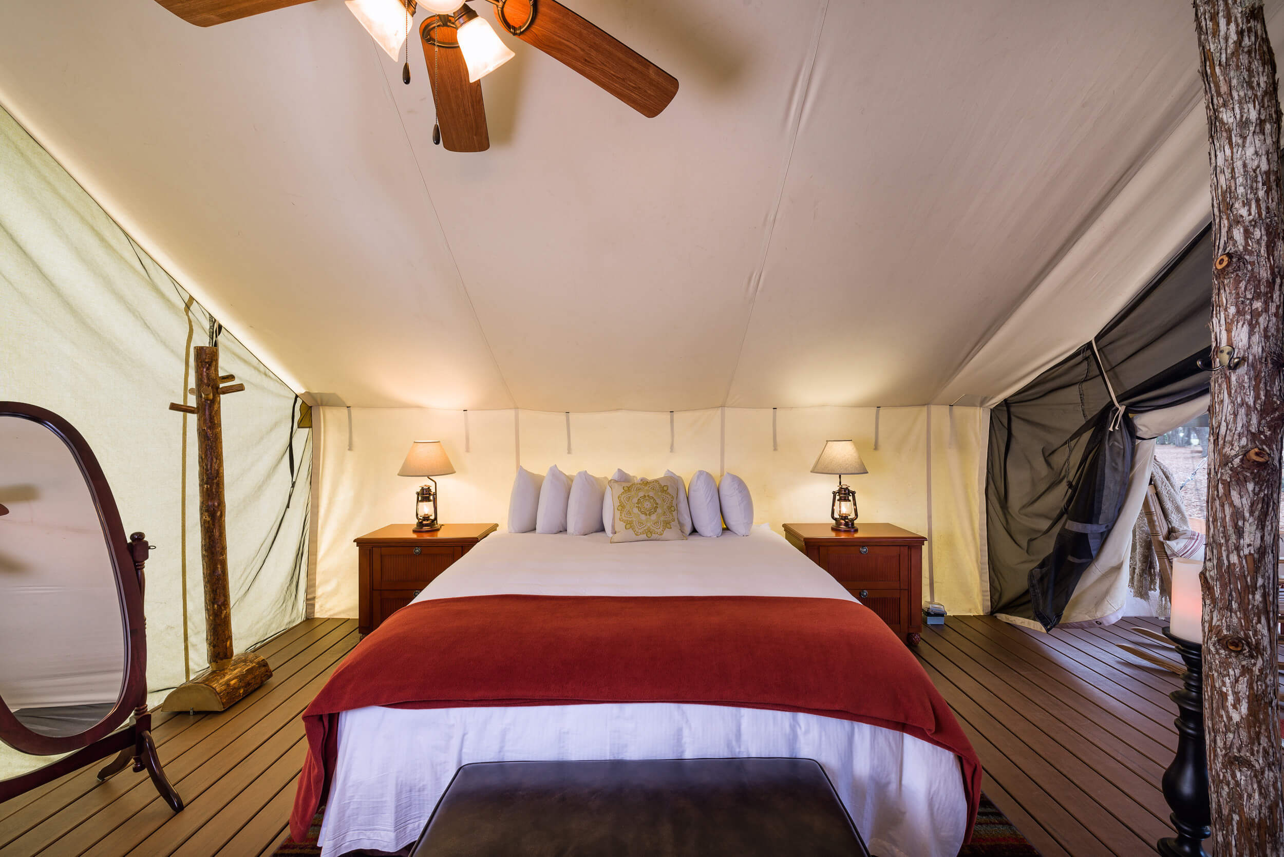 King Bed in Glamping tent | Westgate River Ranch Resort & Rodeo