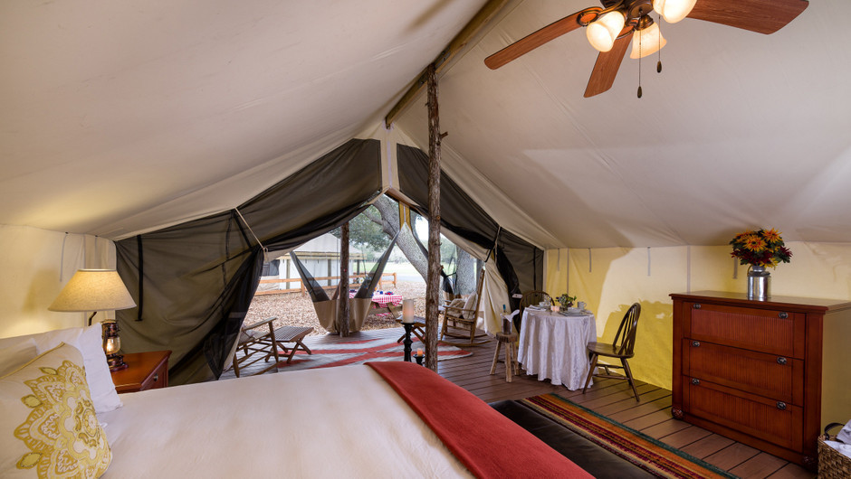 Glamping Luxury Beds |  Westgate River Ranch Resort & Rodeo | Westgate Resorts