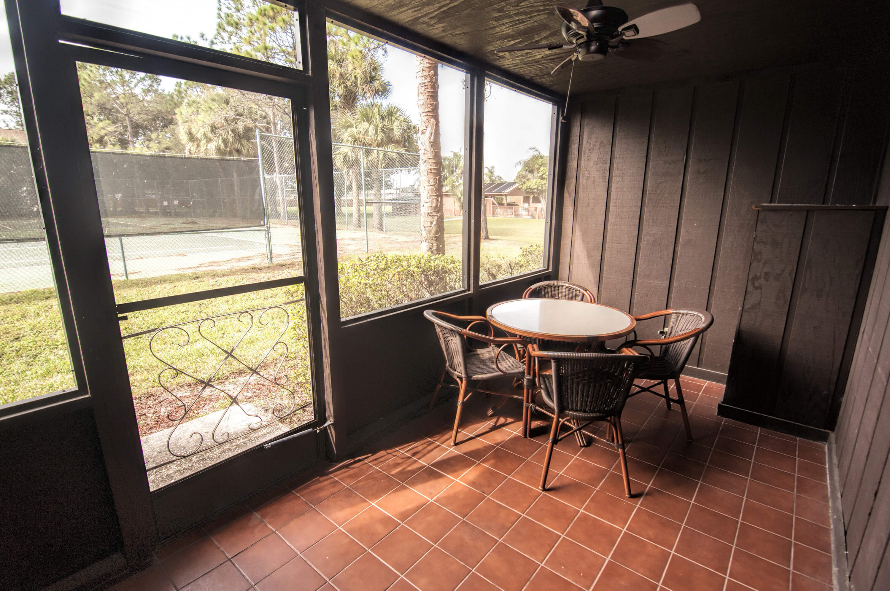 Screened in Patio at the Deluxe Lodge Suite |  Westgate River Ranch Resort & Rodeo | Westgate Resorts