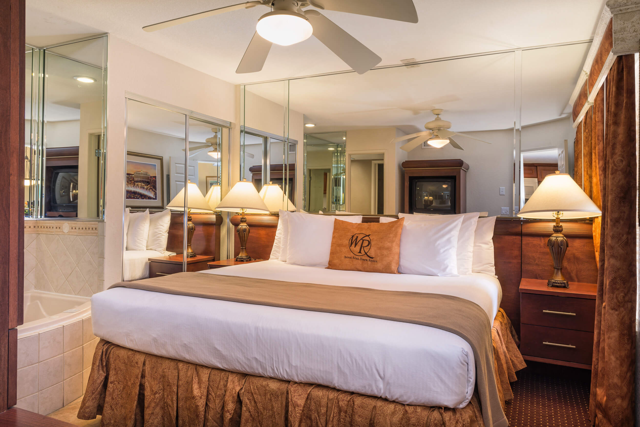 Master Bedroom | One-Bedroom Villa | Westgate Flamingo Bay Resort | Westgate Resorts in Las Vegas NV