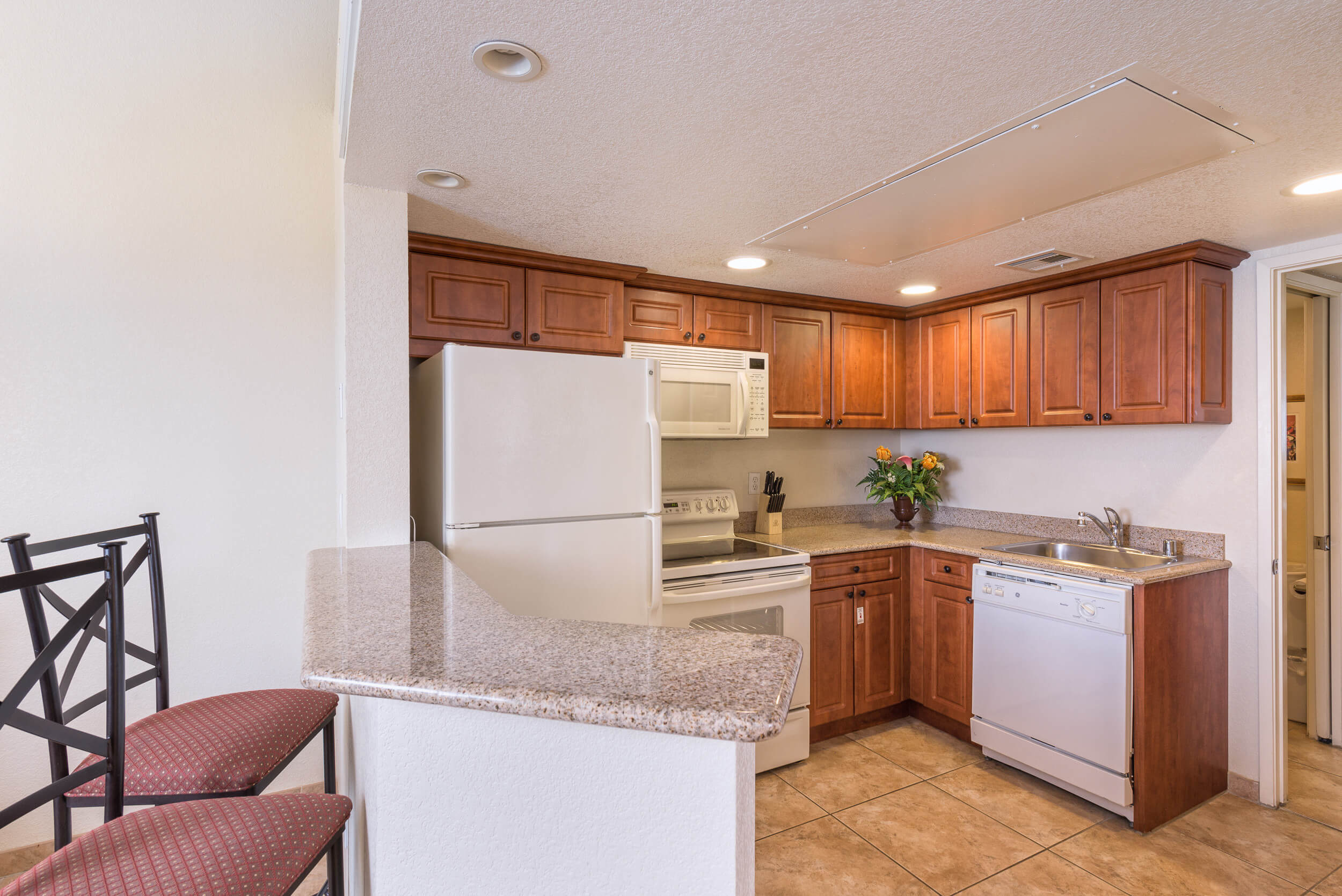 Kitchen in 2 Bedroom Villa at our Flamingo Las Vegas hotel | Westgate Flamingo Bay Resort | Westgate Resorts in Las Vegas NV