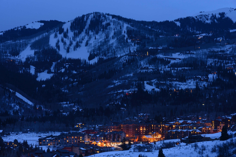 Nighttime at Park City Skiing Resort in Utah | Westgate Park City Resort & Spa | Westgate Ski Resorts