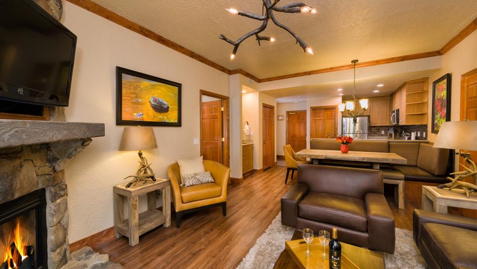 Signature Two-Bedroom Villa Living Room at our Park City Skiing Resort in Utah | Westgate Park City Resort & Spa | Westgate Ski Resorts