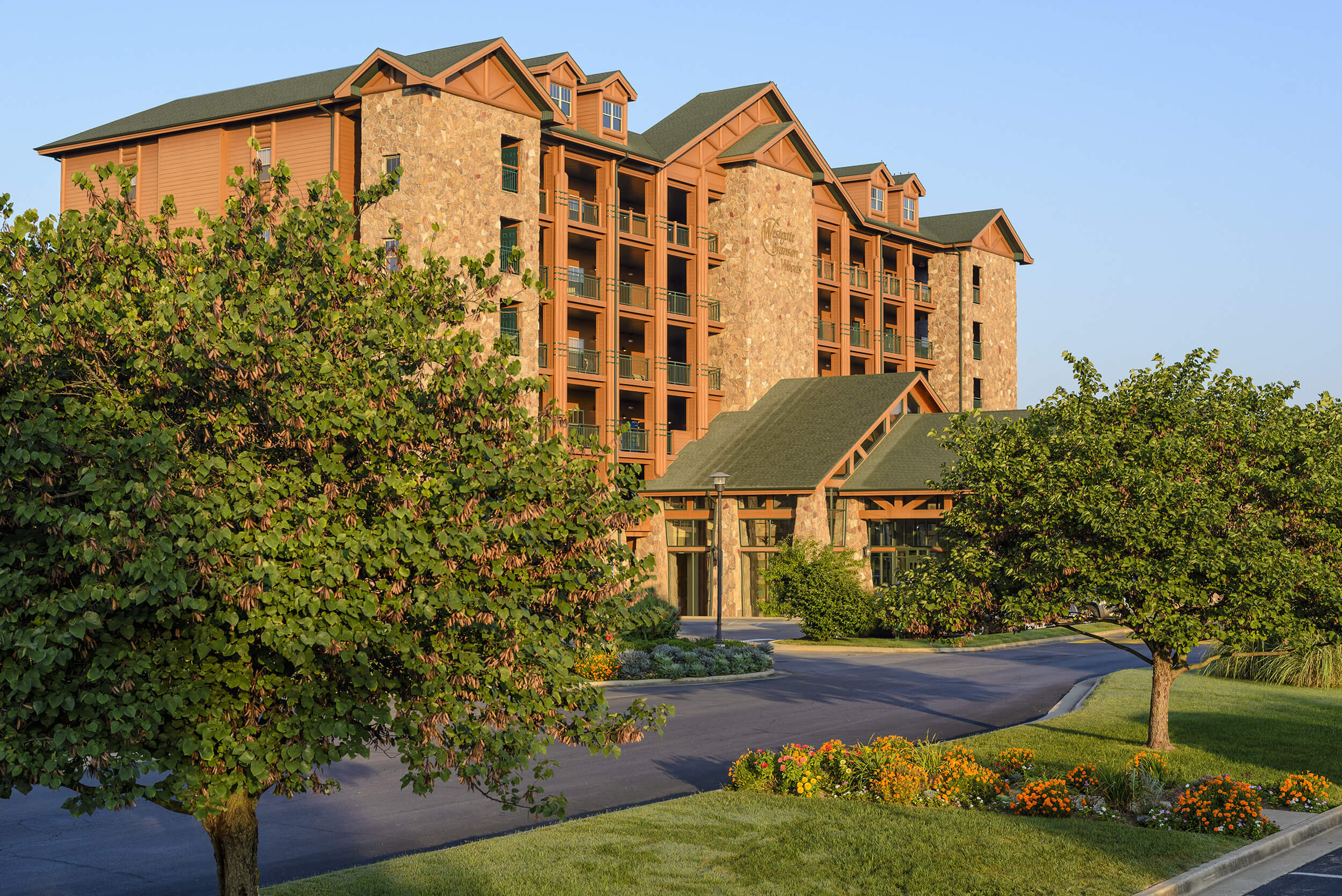 Exterior of resort building | Westgate Branson Woods Resort