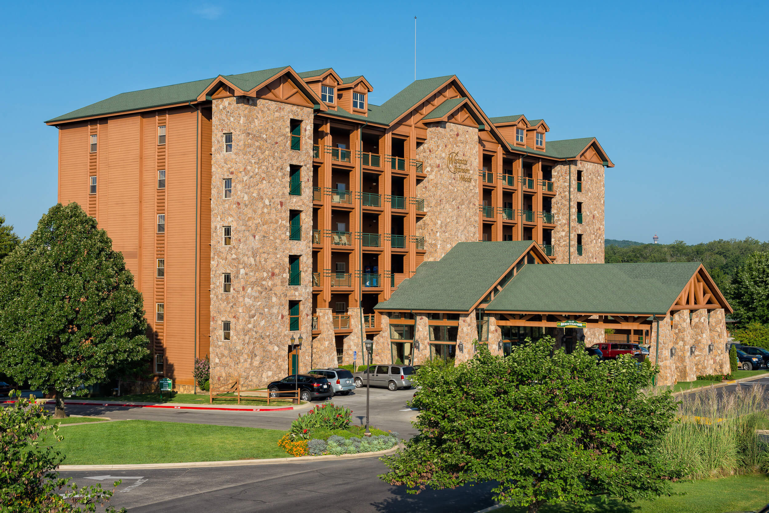 Exterior of resort building | Westgate Branson Woods Resort | Westgate Resorts