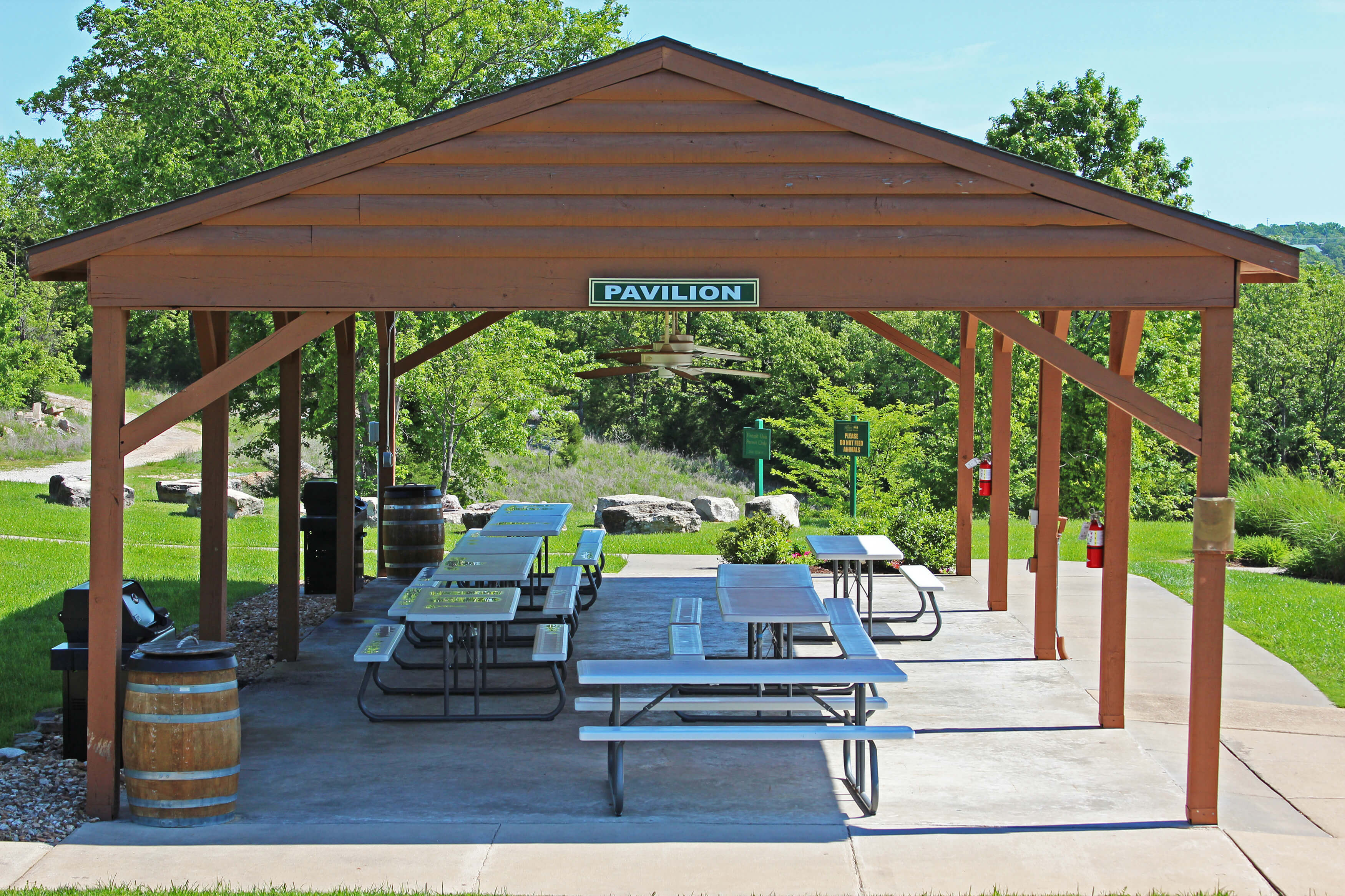 Outdoor Pavilion with picnic tables | Westgate Branson Woods Resort
