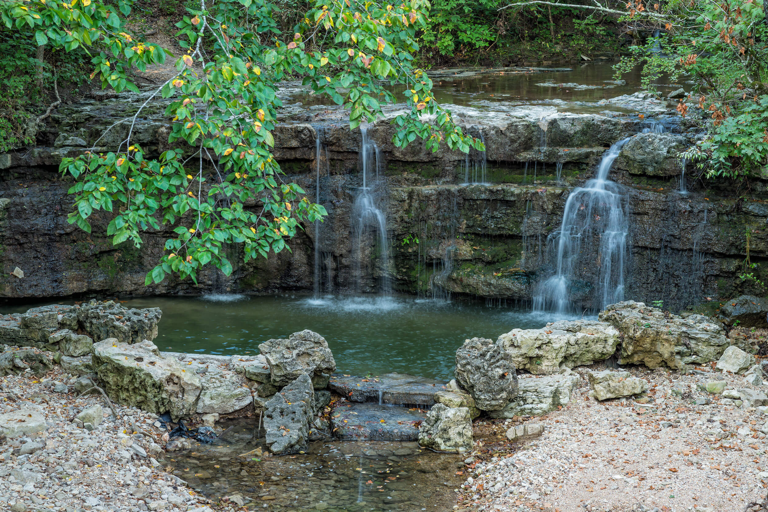 Beautiful waterfall on Resort grounds | Westgate Branson Woods Resort | Westgate Resorts