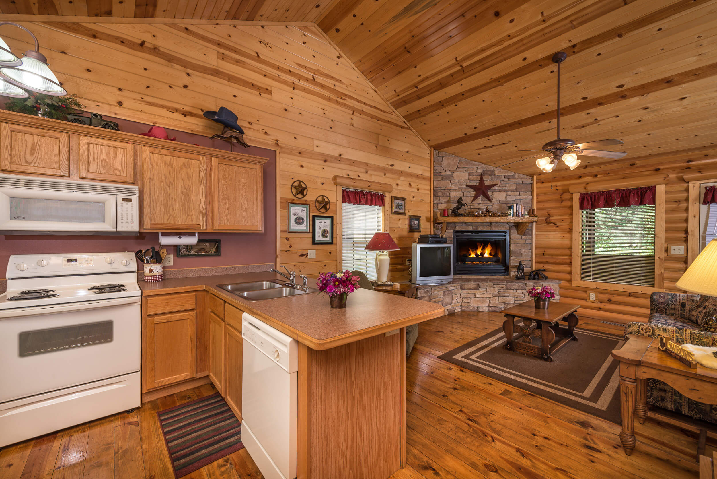 Full Kitchen in One-Bedroom Cabin | Westgate Branson Woods Resort | Westgate Resorts