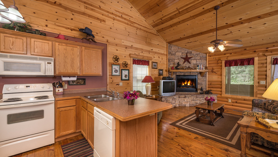 Kitchen in One-Bedroom Cabins in Branson MO | Westgate Branson Woods Resort | Westgate Resorts