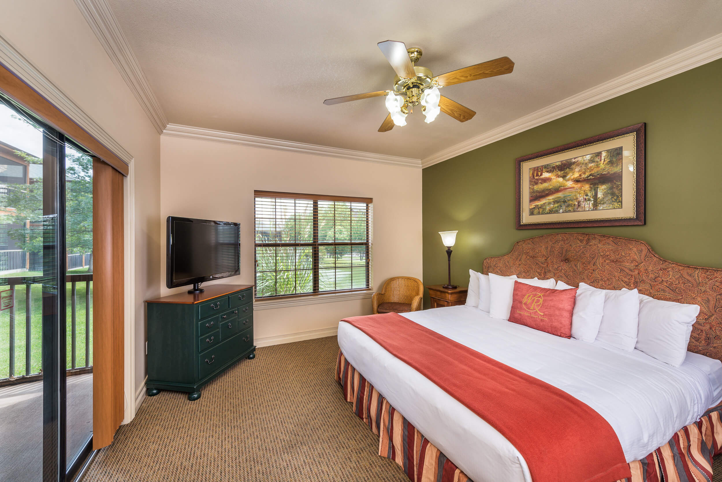 King Bed in Two-Bedroom Villa at our Branson Villas | Westgate Branson Woods Resort