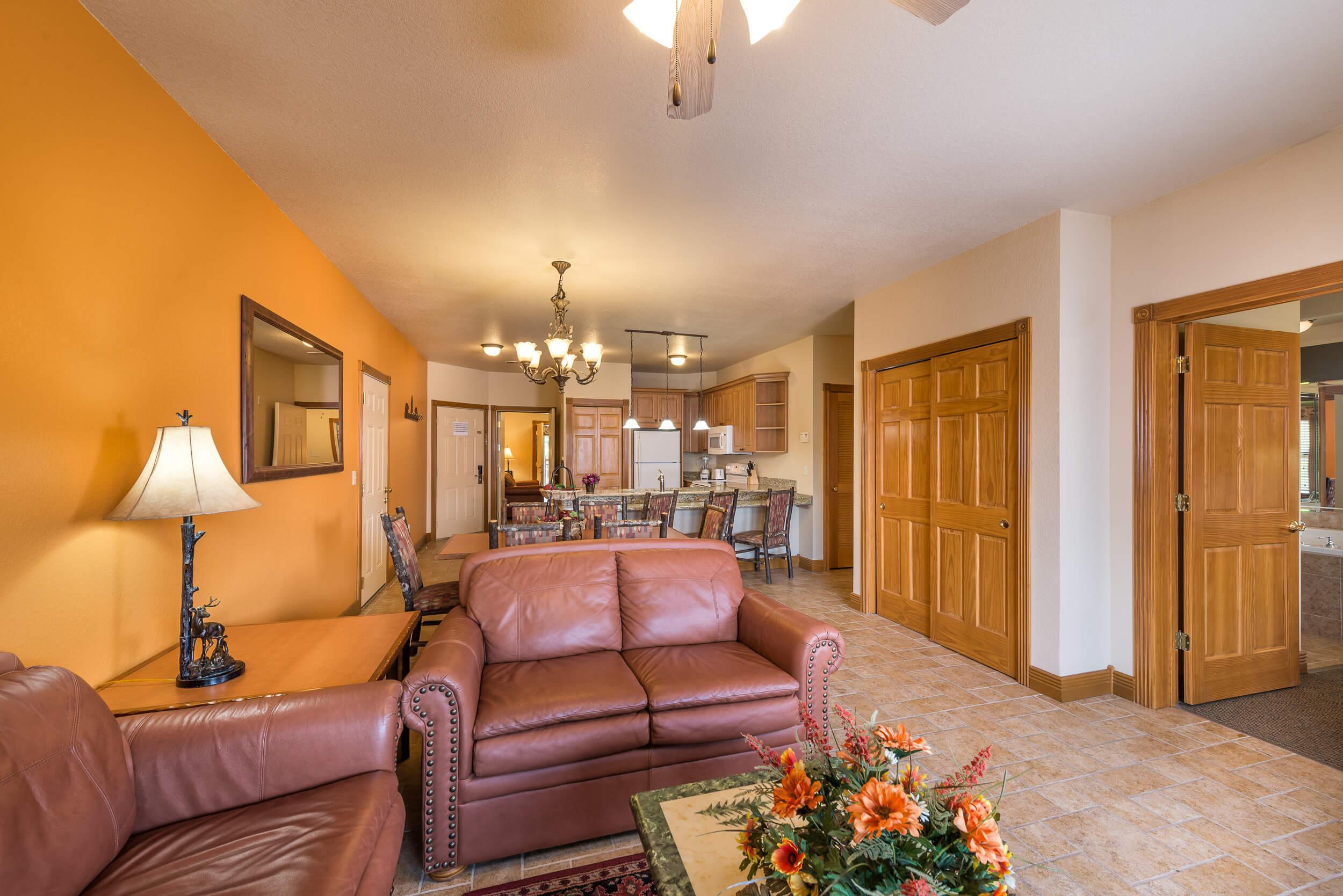 Branson Villas - 2 Bedroom Grand Villa Living Room | Westgate Branson Woods Resort | Westgate Resorts