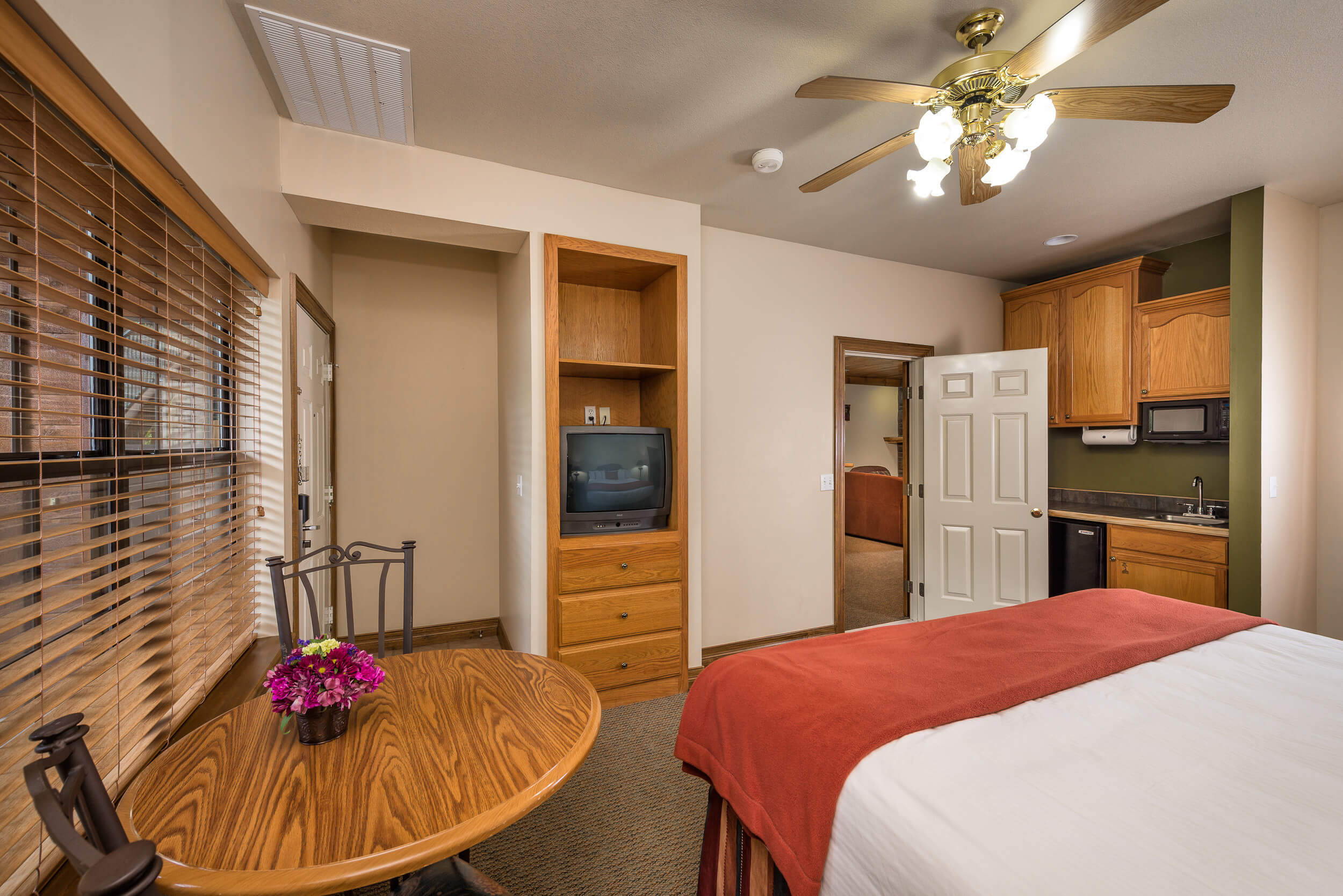 King Bed in Studio Villa at our Branson Villas | Westgate Branson Woods Resort | Westgate Resorts