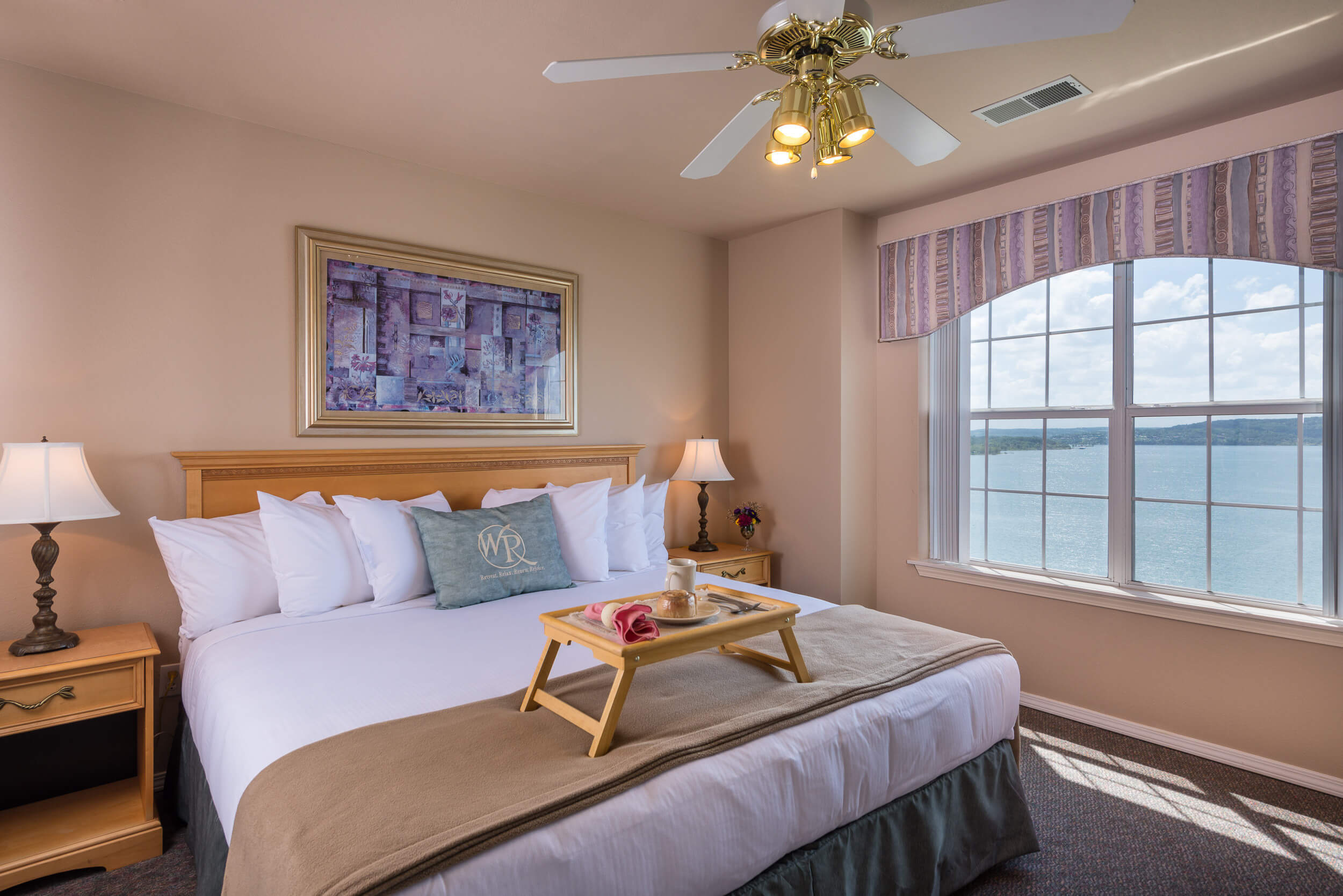 King bed in master bedroom of Two-Bedroom Villa | Westgate Branson Lakes Resort