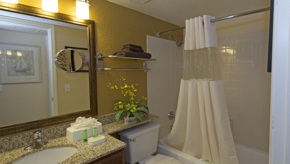 Bathroom in One Bedroom Villa at our Orlando resorts   Westgate Blue Tree Resort   Westgate Resorts Orlando