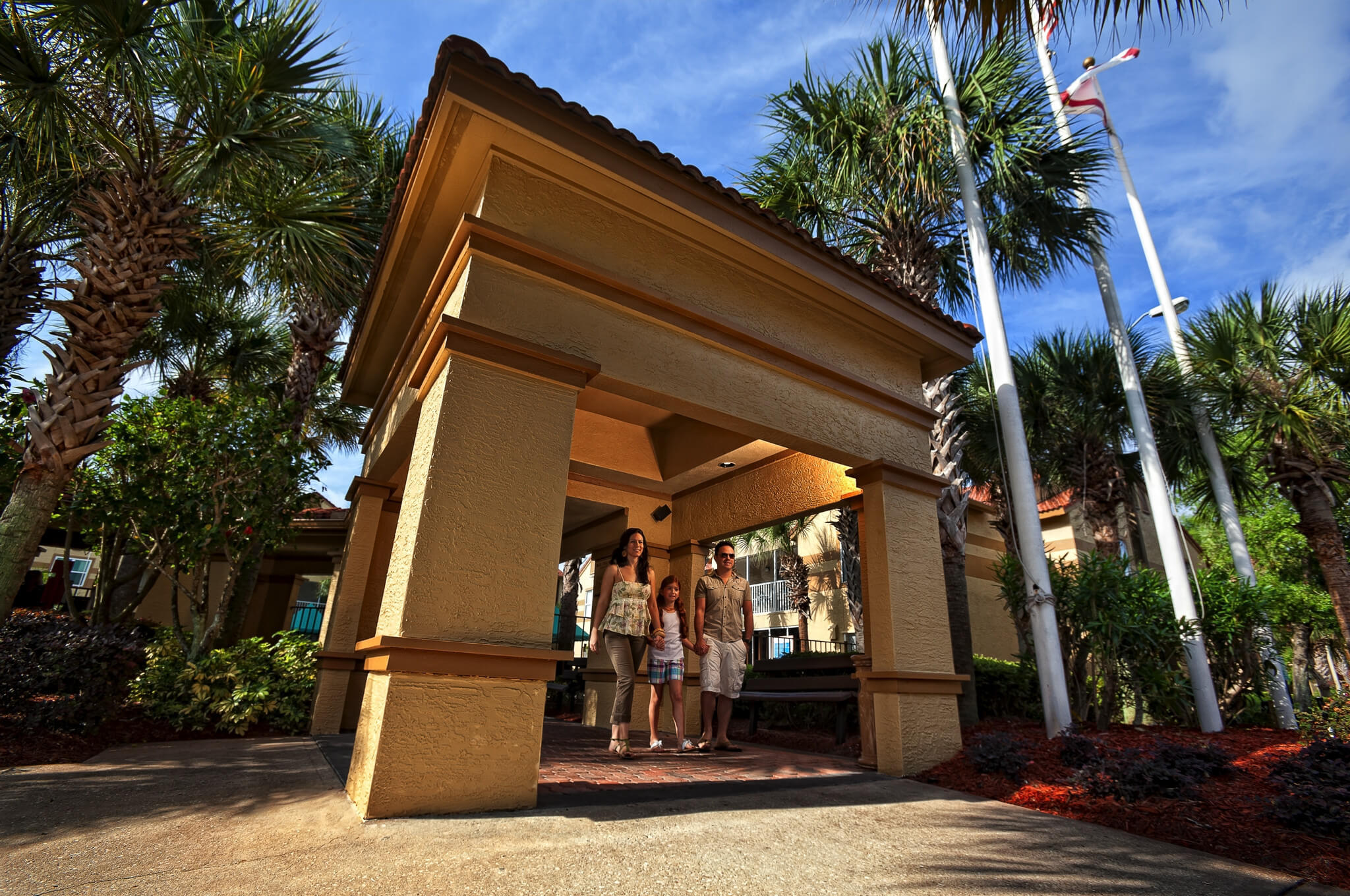 Family strolling through Resort | Westgate Blue Tree Resort | Westgate Resorts Orlando