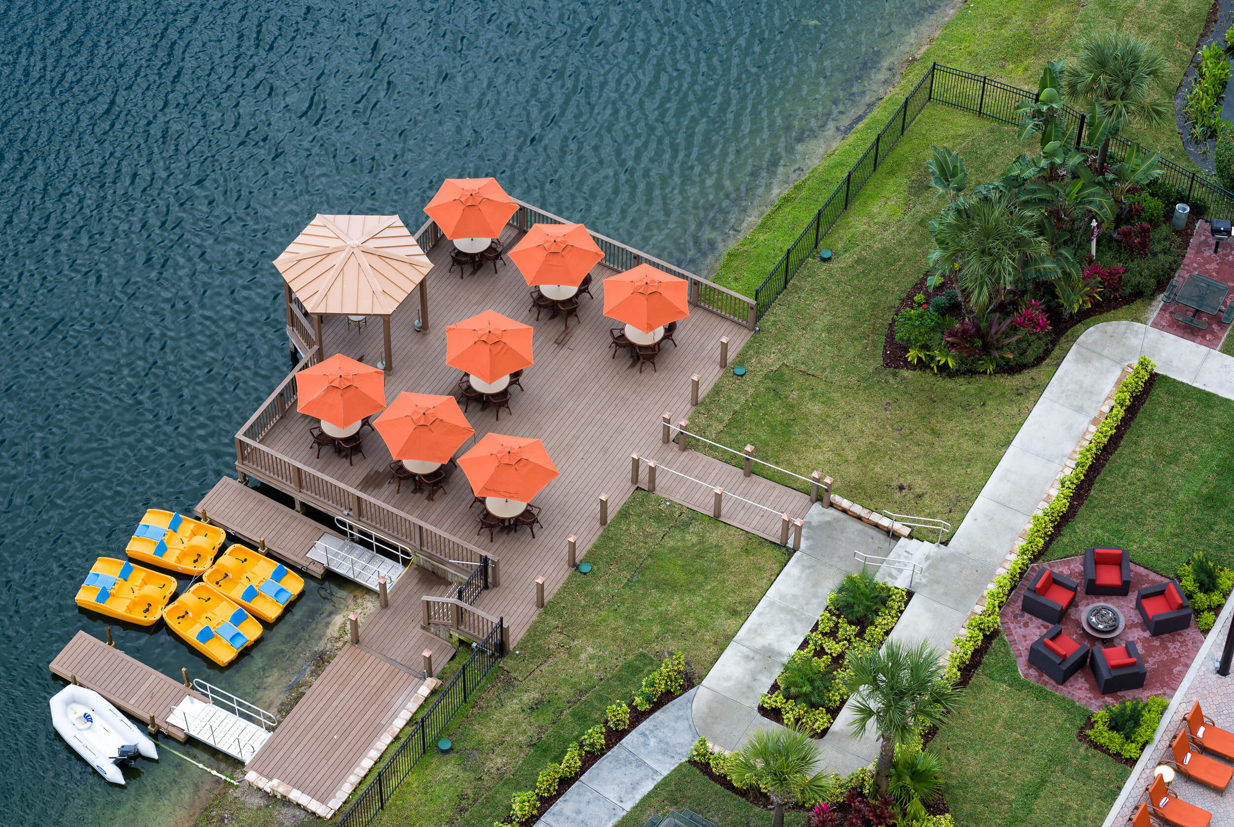 Overhead View of Outdoor Lounge and Pool Deck | Westgate Palace Resort | Orlando, FL | Westgate Resorts