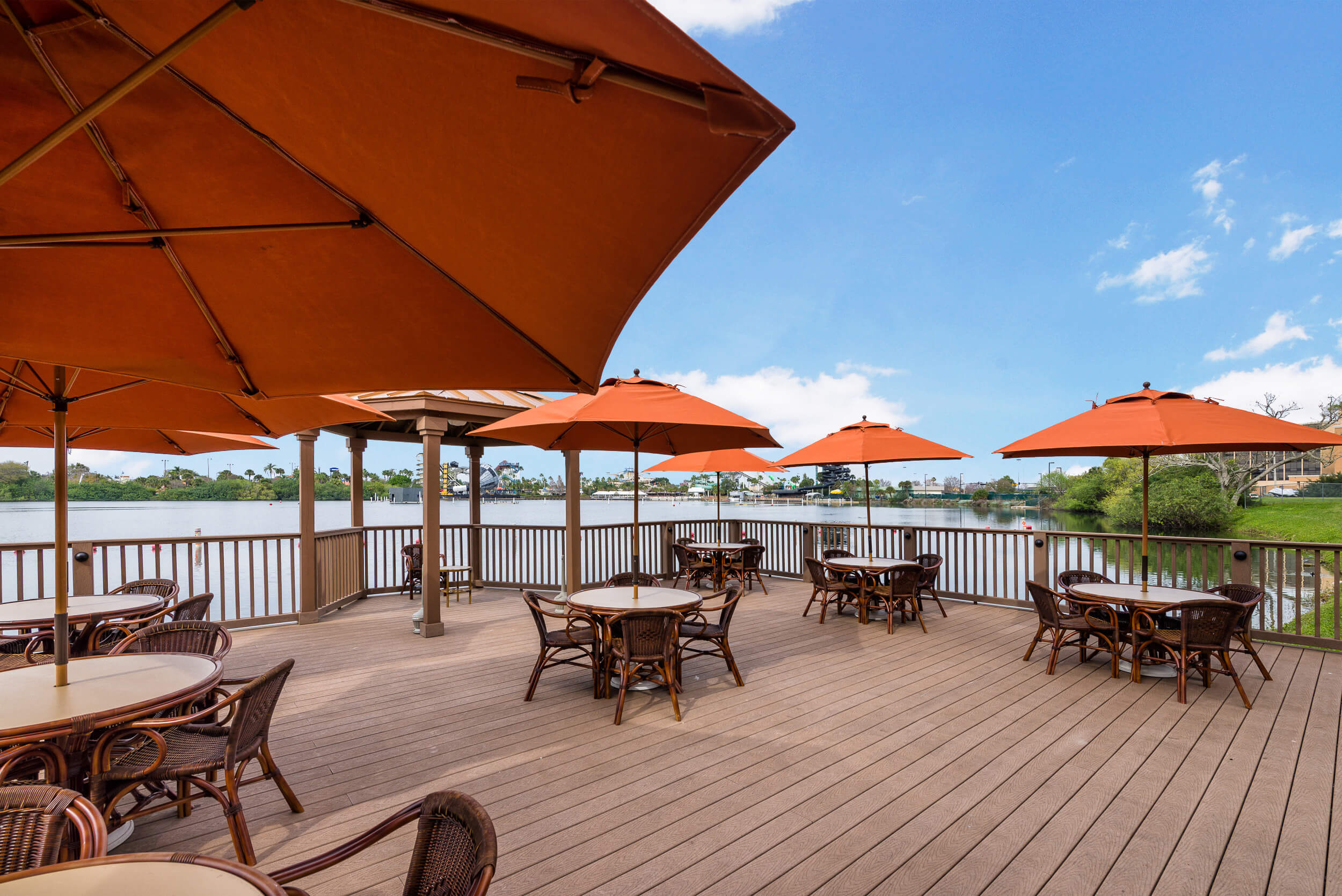 Outdoor Lounge on the Water | Westgate Palace Resort | Orlando, FL | Westgate Resorts