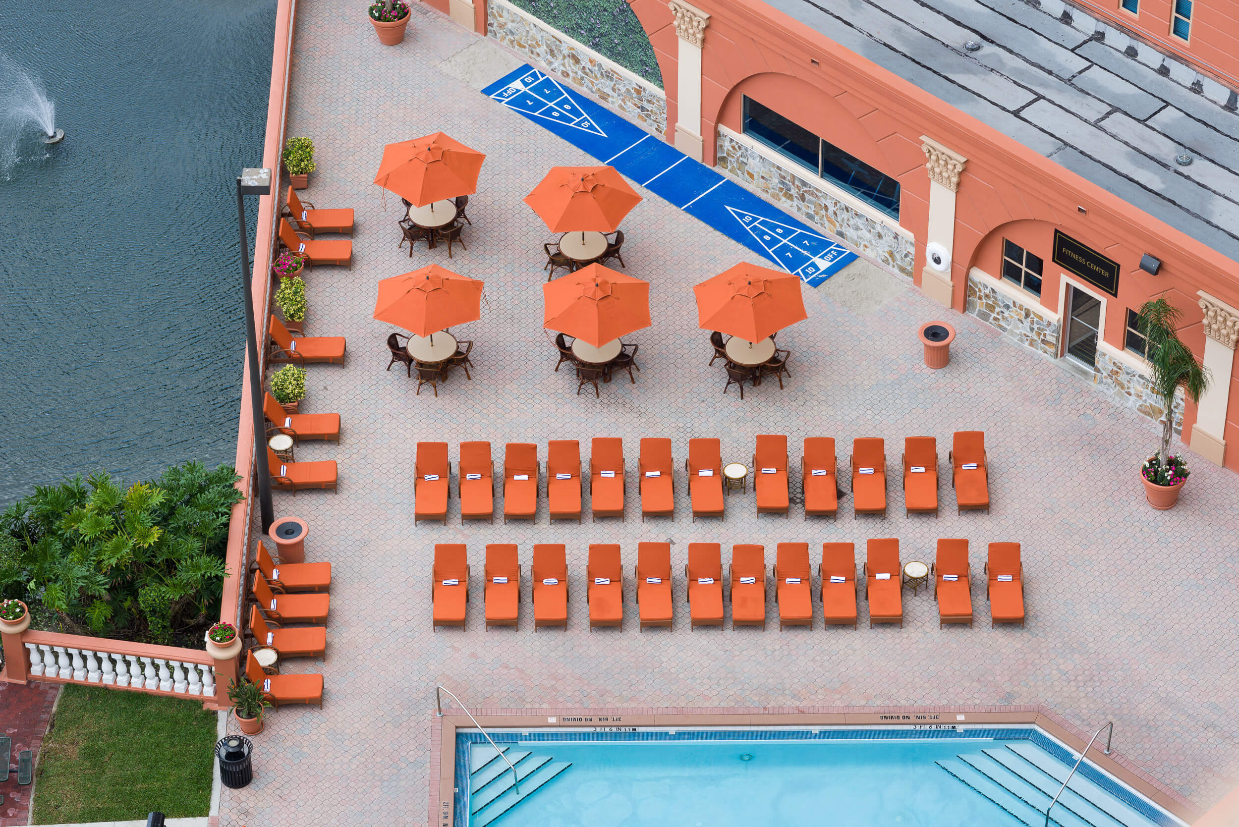 Overhead View of Pool Deck | Westgate Palace Resort | Orlando, FL | Westgate Resorts