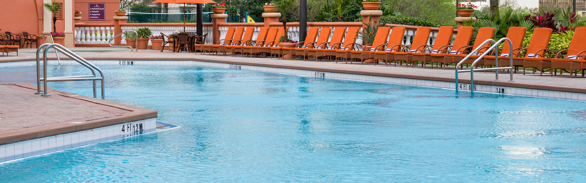 Poolside After Getting Direct Hotel Discounts | Westgate Palace Orlando | Discounts For Hotels on International Drive, Orlando, Florida 32819