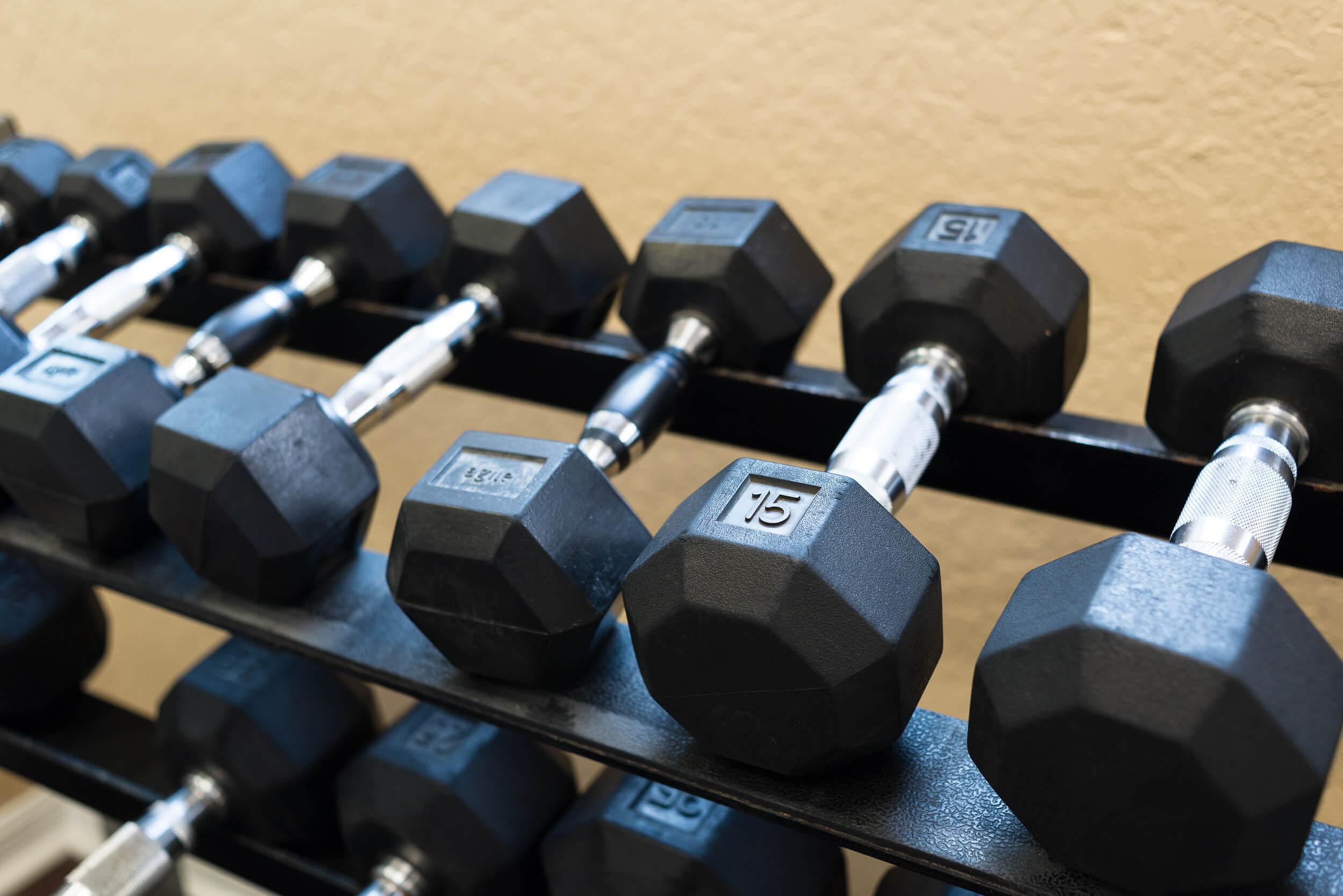 Fitness Center Weights at Painted Mountain golf resort Mesa AZ | Westgate Painted Mountain Golf Resort | Westgate Resorts