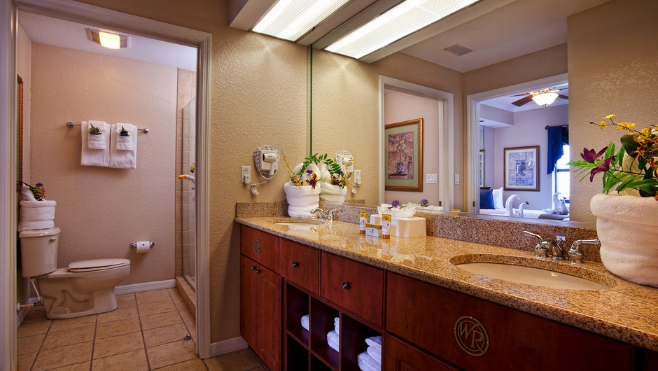 Master Bathroom | Two-Bedroom Deluxe Villa | Westgate Palace Resort | Orlando, FL | Westgate Resorts