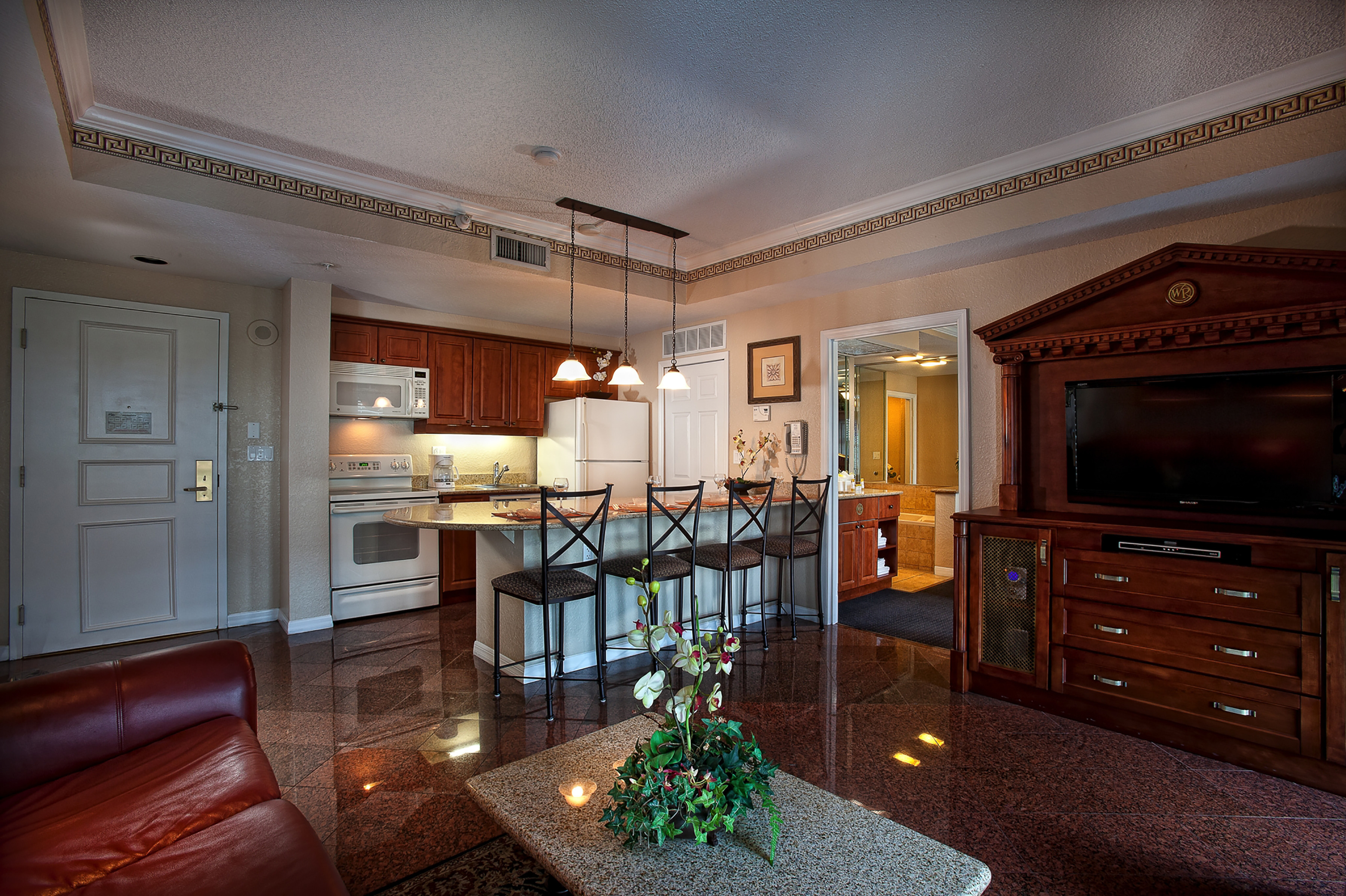 Living Area in Two-Bedroom Deluxe Villa | Westgate Palace Resort | Orlando, FL | Westgate Resorts