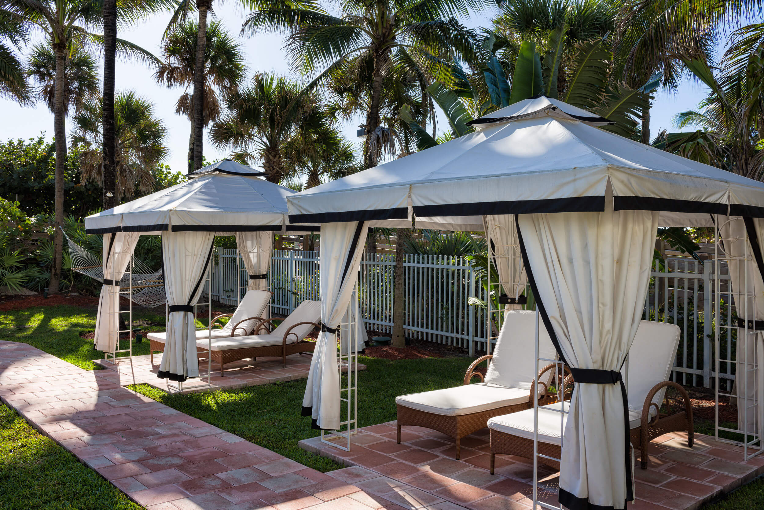 Private cabanas available for rent | Westgate South Beach Oceanfront Resort