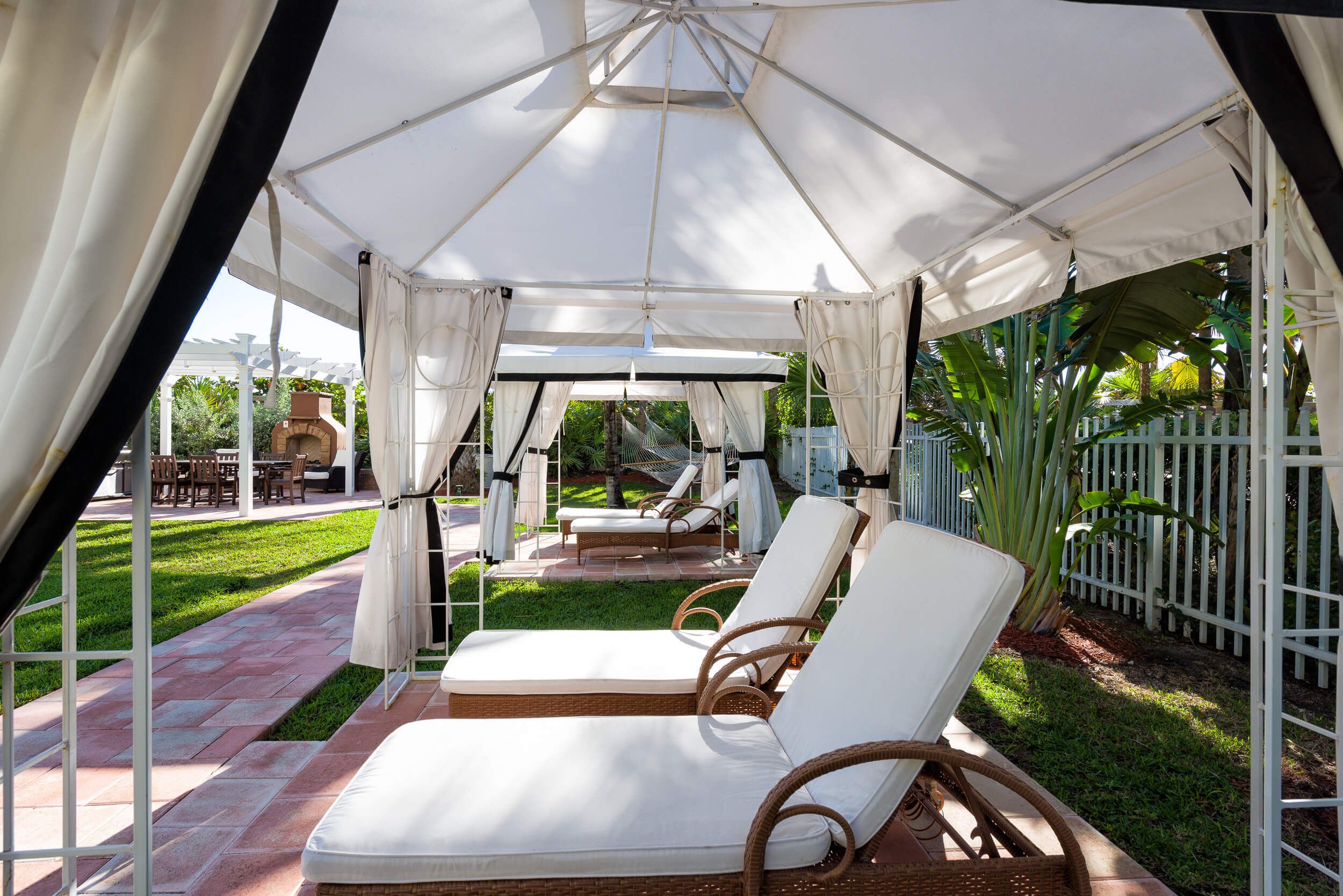 Private cabanas in back of Miami Beach resort | Westgate South Beach Oceanfront Resort