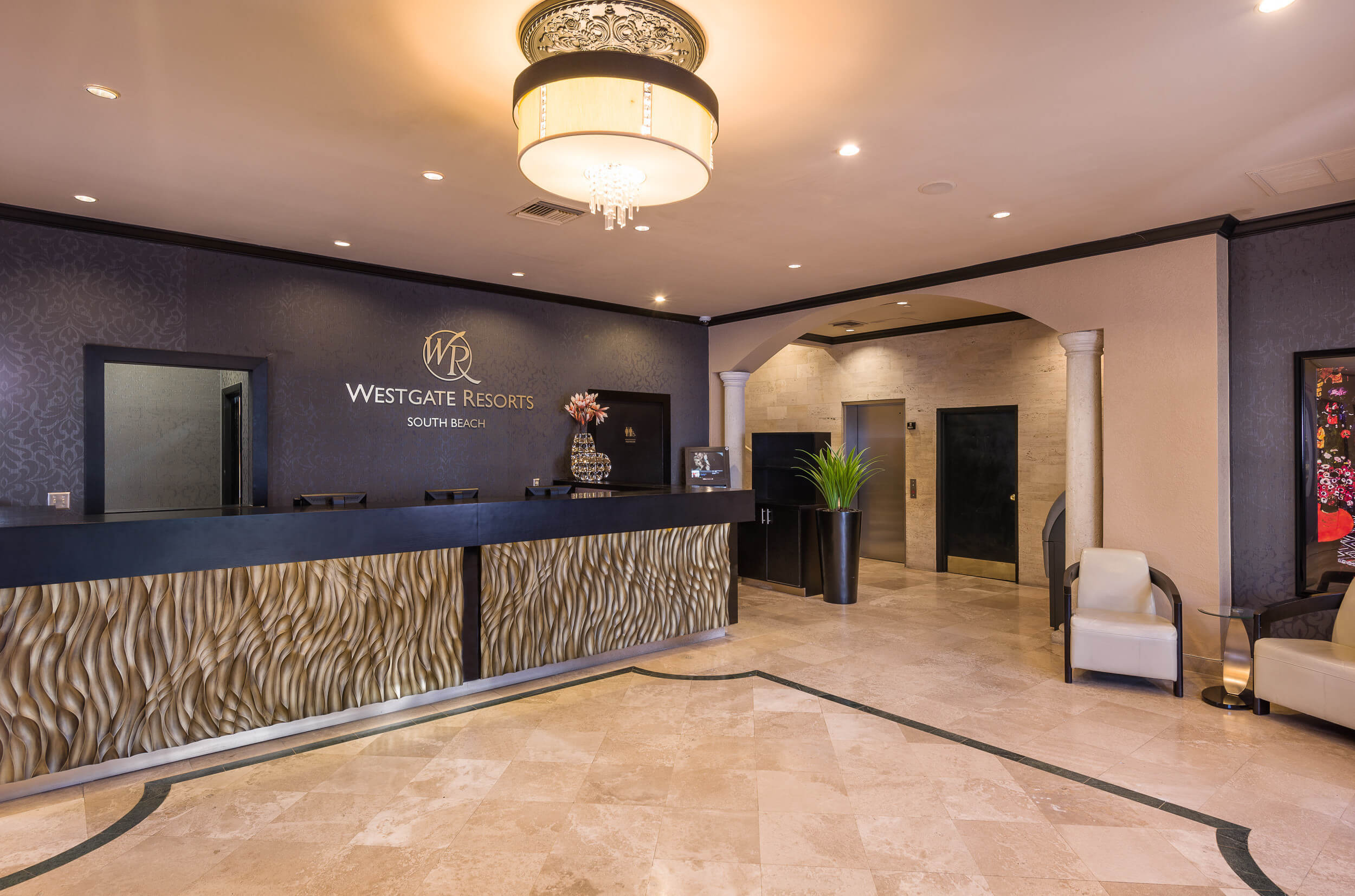 Lobby and front desk of Miami Beach resort | Westgate South Beach Oceanfront Resort