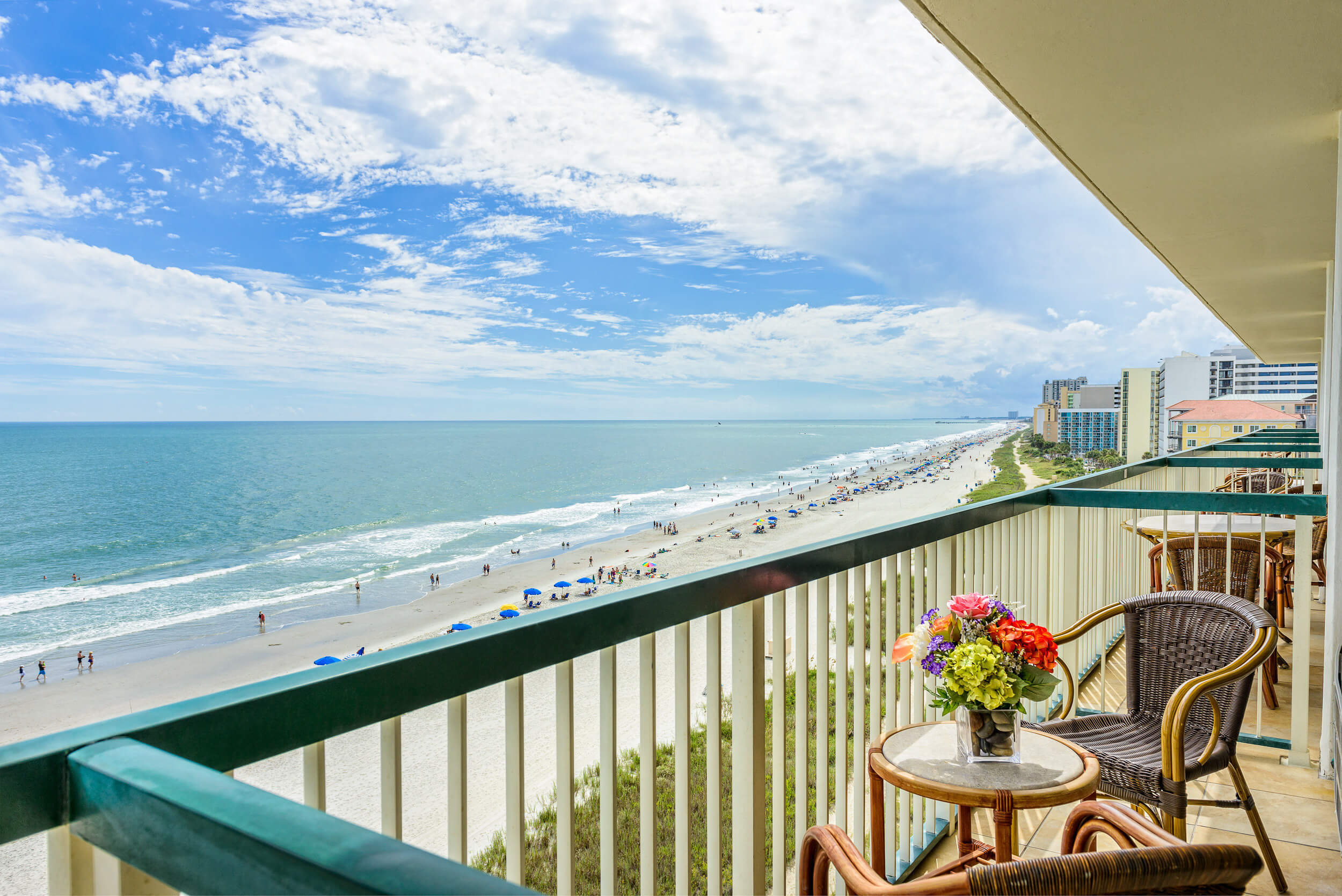 Private balcony overlooking Atlantic Ocean | Westgate Myrtle Beach Oceanfront Resort