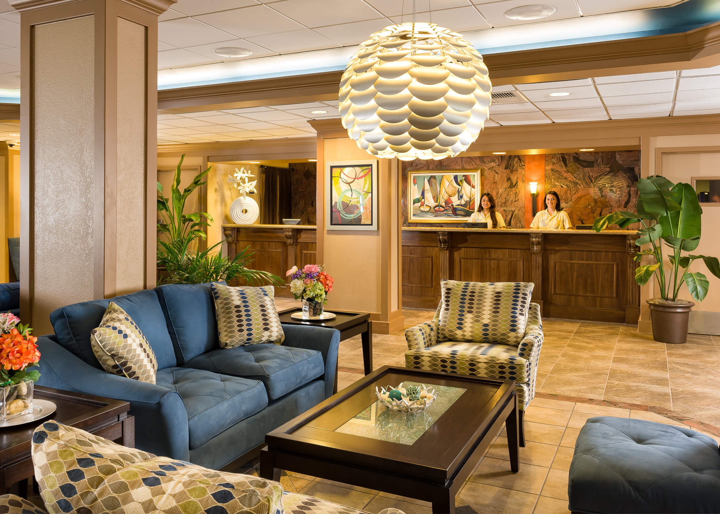 Lobby and front desk at Myrtle Beach resort | Westgate Myrtle Beach Oceanfront Resort