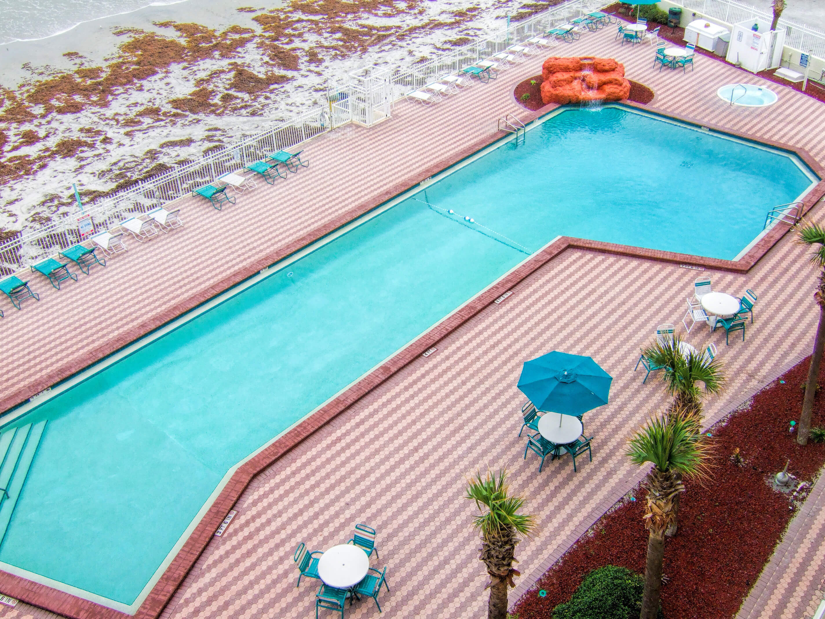 Heated outdoor pool overlooking the Atlantic Ocean | Harbour Beach Resort | Westgate Resorts in Daytona Beach FL