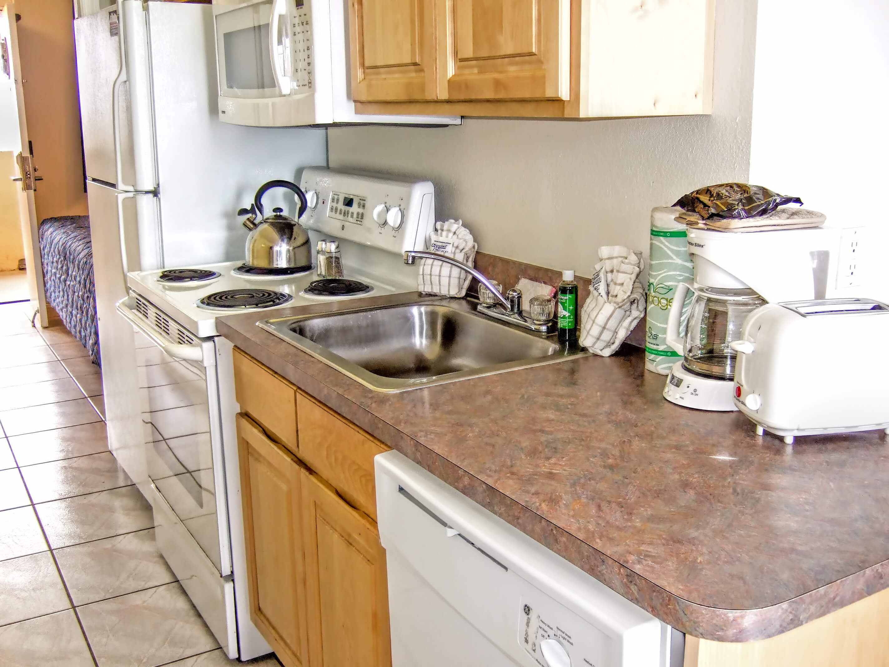 Fully Equipped Kitchen in One-Bedroom Villa | Harbour Beach Resort | Westgate Resorts in Daytona Beach FL