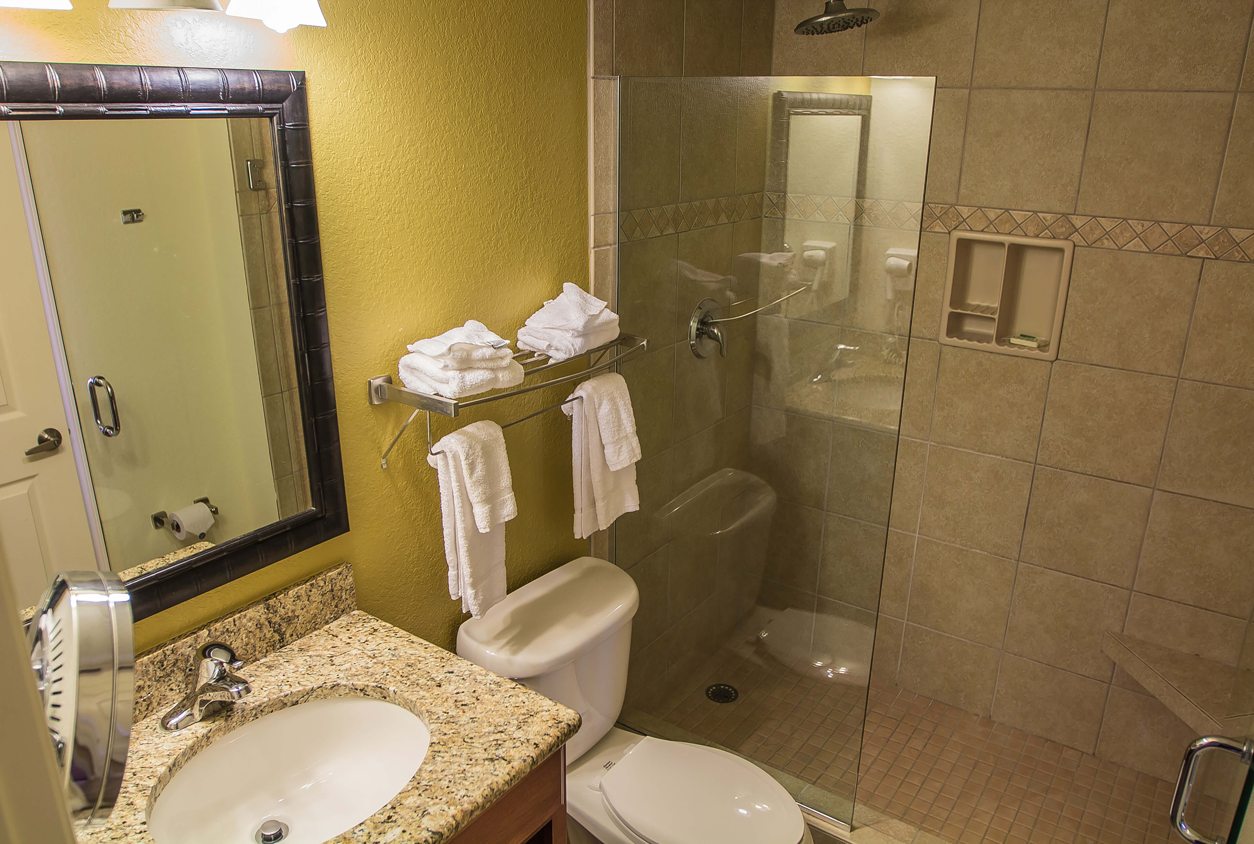 Studio Villa | Bathroom with Luxurious Shower | Westgate Lakes Resort & Spa | Orlando, FL | Westgate Resorts