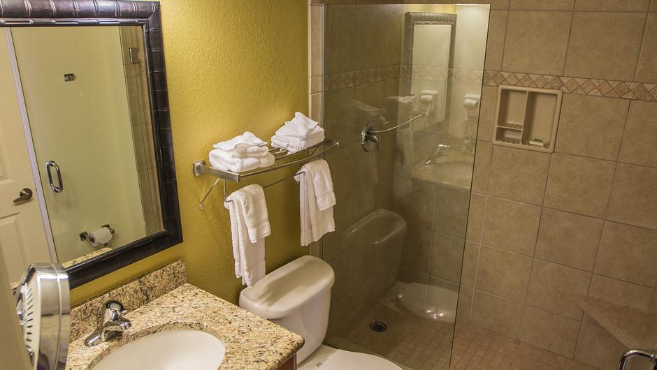 Studio Villa | Bathroom with Luxurious Shower | Westgate Lakes Resort & Spa | Orlando, FL | Westgate Resorts