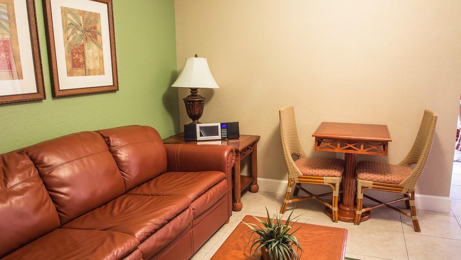 Studio Villa   Living Area   Westgate Lakes Resort & Spa   Orlando, FL   Westgate Resorts