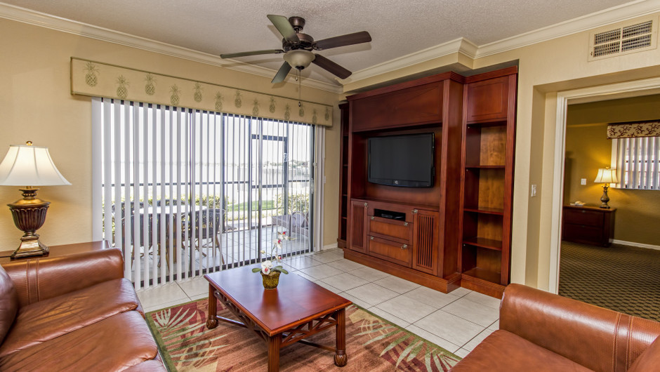 Living Area at Two-Bedroom Villa in Orlando, FL | Westgate Lakes Resort & Spa | Westgate Resorts