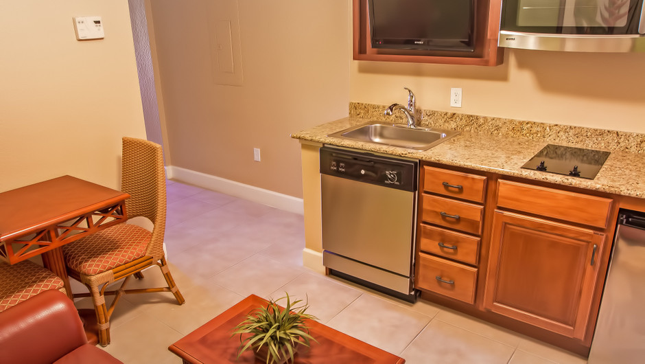 Studio Villa   Kitchen Area   Westgate Lakes Resort & Spa   Orlando, FL   Westgate Resorts