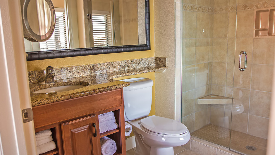 Bathroom in Four-Bedroom Presidential Villa View in Orlando, FL | Westgate Lakes Resort & Spa | Westgate Resorts
