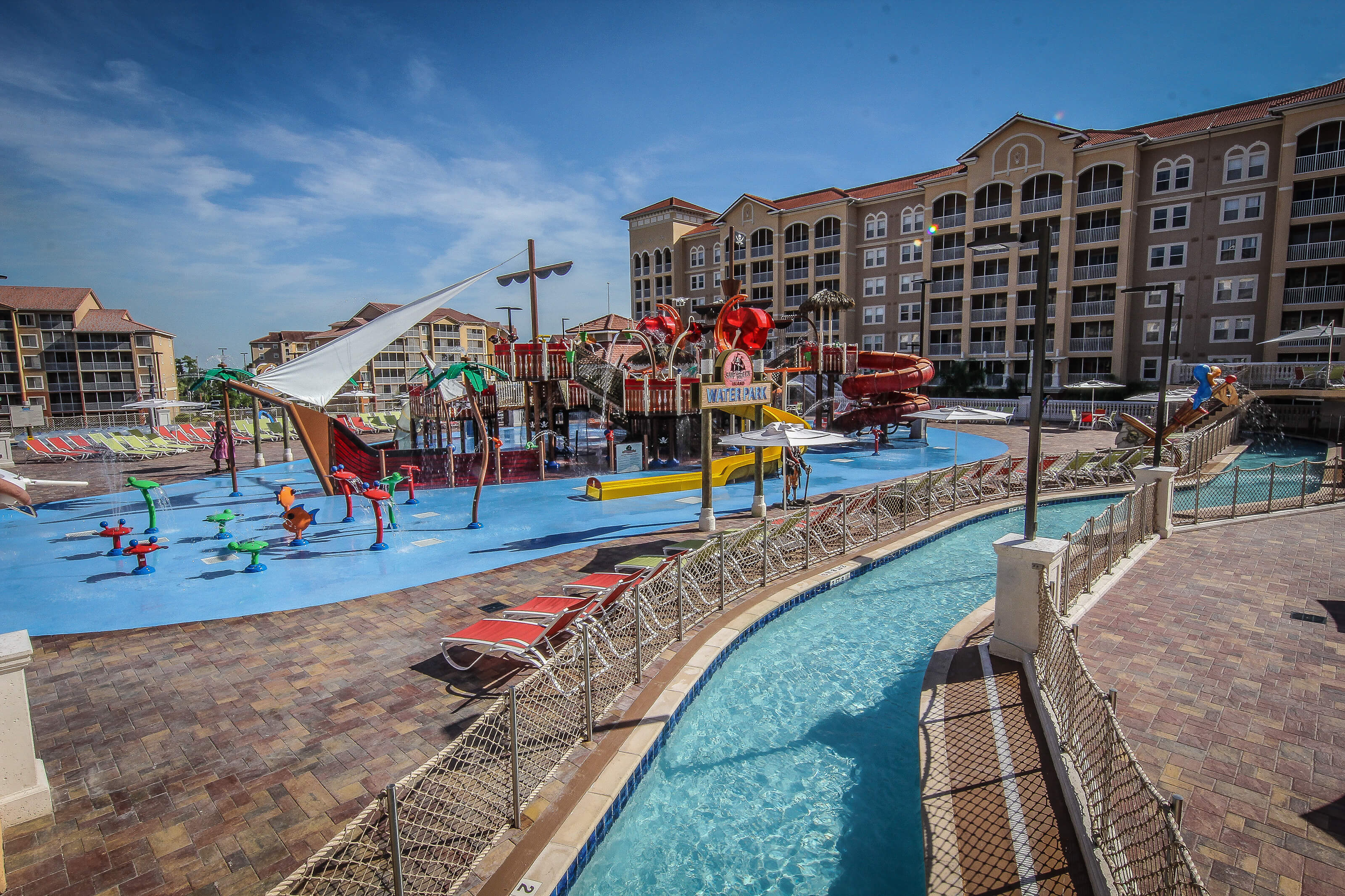 Pirate ship water play area at Ship Wreck Island Water Park | Westgate Town Center Resort & Spa