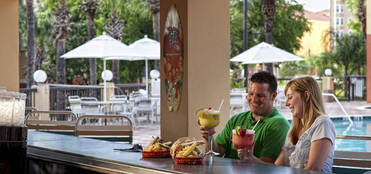 Poolside bars at the Island Water Park Resort   Westgate Town Center Resort & Spa   Westgate Resorts